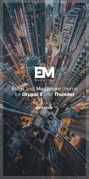 Blogs and Magazines theme for Drupal 8 and Thunder